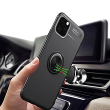 Load image into Gallery viewer, Metallic Finger Ring Holder Matte Case Cover For iPhone 11