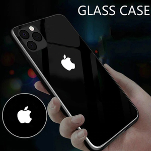 Load image into Gallery viewer, iPhone 11 Pro LED Logo Glass Back Case