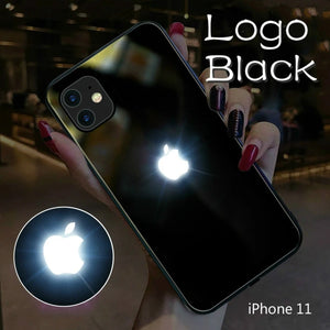 iPhone 11 Series LED Light Apple Logo Glass Back Case