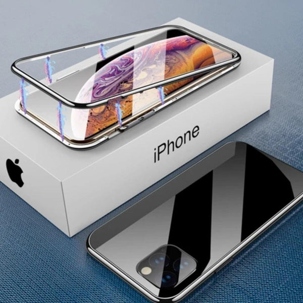 iPhone 11 Cover Electronic Auto-Fit Magnetic Glass Case