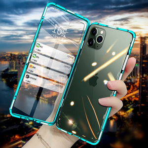iPhone 11 Pro Cover Electronic Auto-Fit (Front+ Back) Glass Magnetic Case