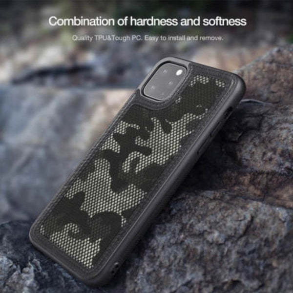 iPhone 11 Cover Camouflage Pattern Cloth Case