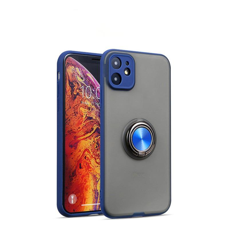 Shockproof Translucent Ring Case Cover For iPhone 11 Pro