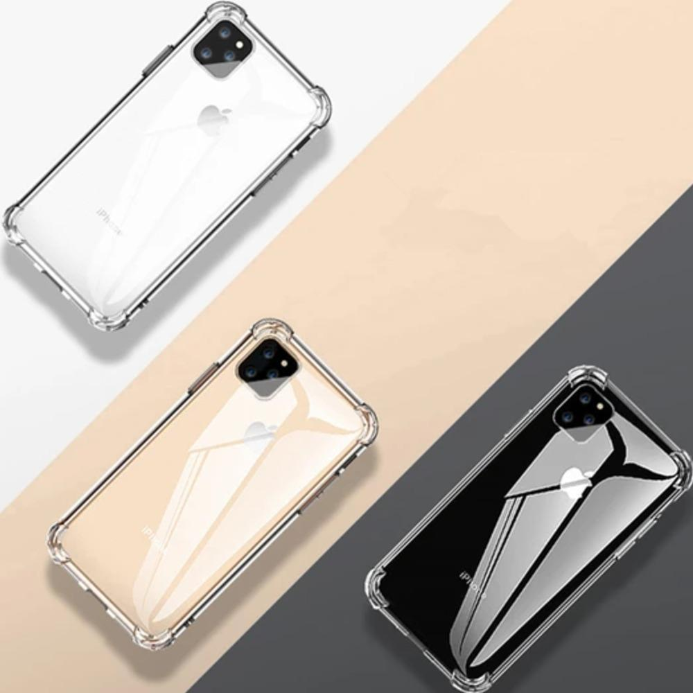 Load image into Gallery viewer, iPhone 11 Series Cover Anti-Knock TPU Transparent Case