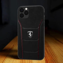Load image into Gallery viewer, iPhone 11 Series Cover Genuine Leather Crafted Limited Edition Ferrari
