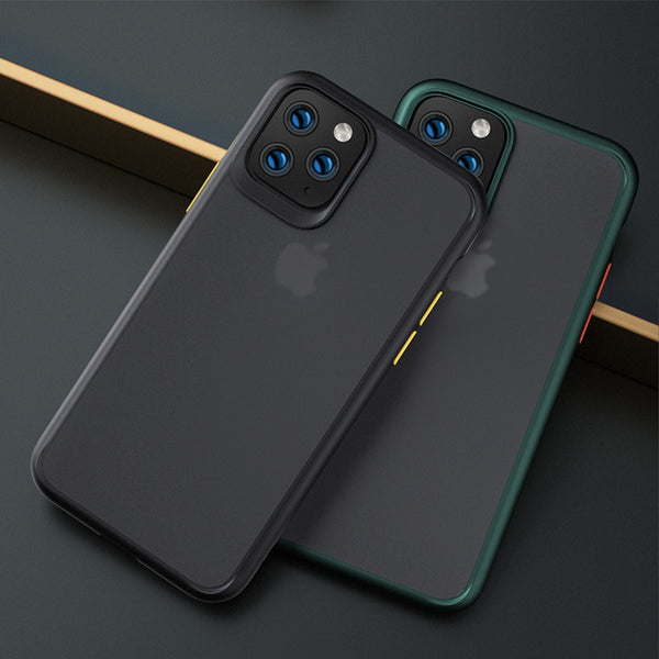 iPhone 11 Pro Max Cover Luxury Shockproof Matte Finish Case