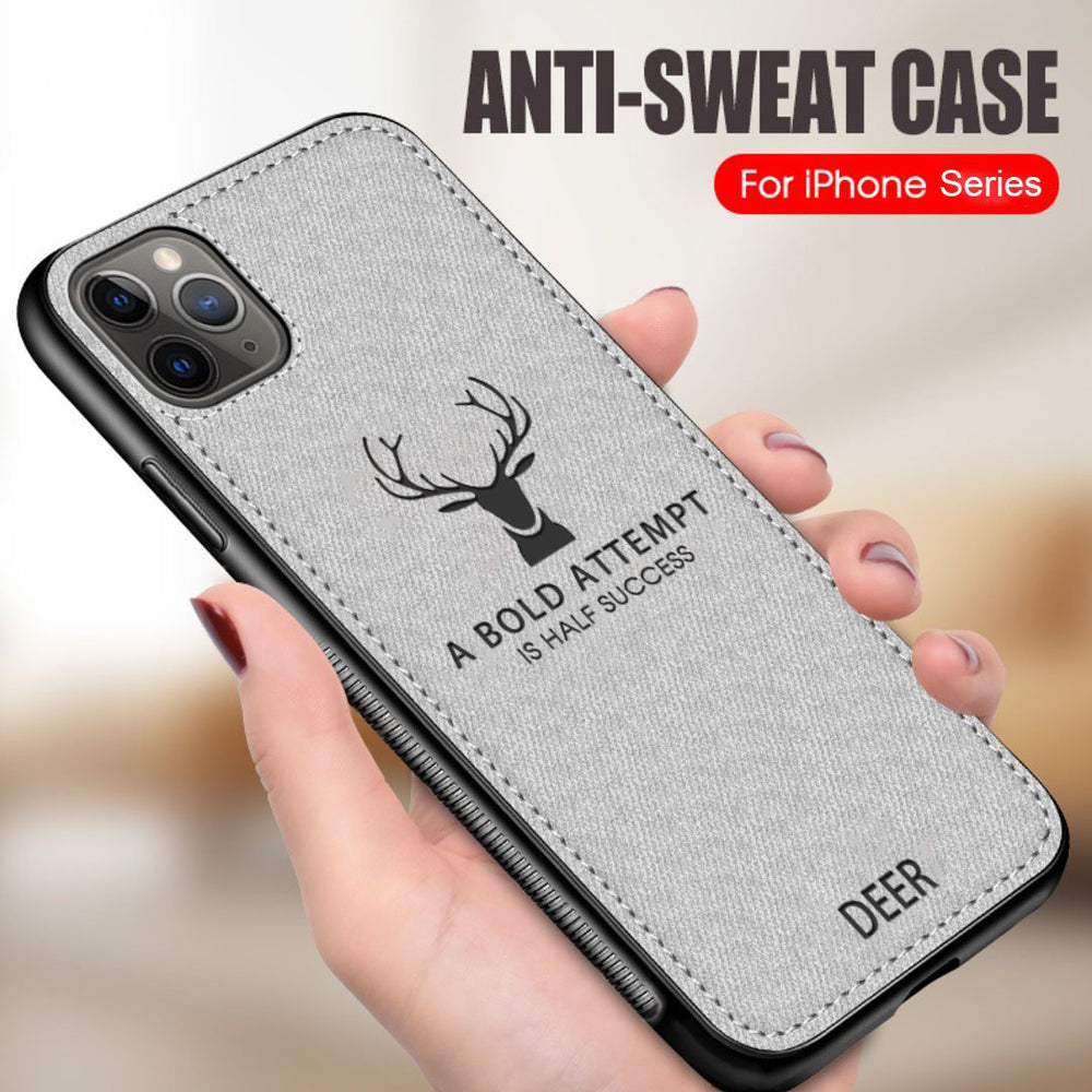 iPhone 11 Cover Deer Pattern Inspirational Soft Case