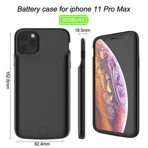 iPhone 11/11 Pro Max Cover Portable 6000 mAh Battery Shell Case (JLW)