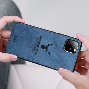 iPhone 11 Pro Cover Deer Pattern Inspirational Soft Case