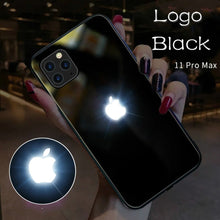 Load image into Gallery viewer, iPhone 11 Series LED Light Apple Logo Glass Back Case