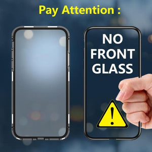 iPhone 11 Pro Max Cover Electronic Auto-Fit Magnetic Glass Case