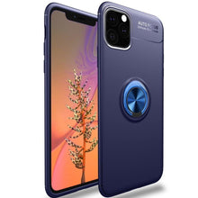 Load image into Gallery viewer, Metallic Finger Ring Holder Matte Case Cover For iPhone 11 Pro Max