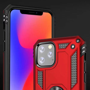 Hybrid Armor Ring Case Cover For iPhone 11 Series