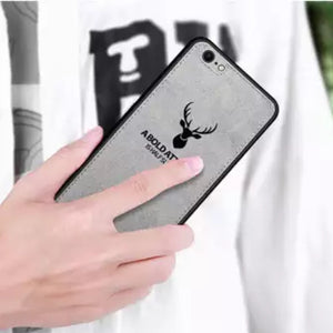 iPhone 8 3D Deer Print Cloth Textured Inspirational Soft Case