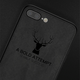 iPhone 8 Plus 3D Deer Print Cloth Textured Inspirational Soft Case