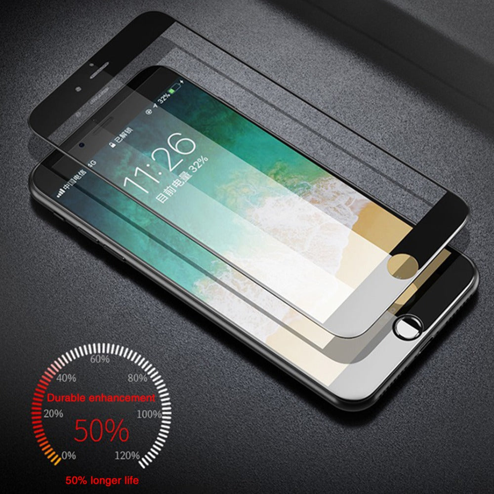 iPhone 8 Ultra HD Full Coverage Tempered Glass