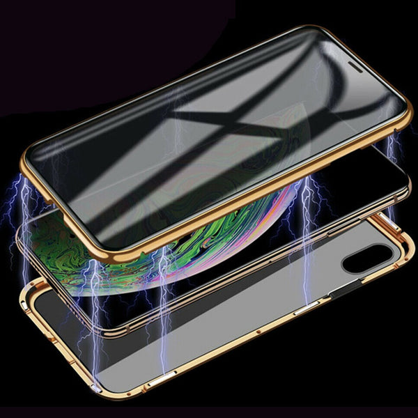 iPhone X Auto-Fit (Front+ Back) Anti Spy Glass Magnetic Case