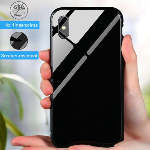 iPhone X Electronic Auto-Fit Magnetic Glass Case