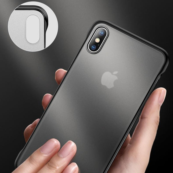 iPhone XR Luxury Frameless Transparent Case