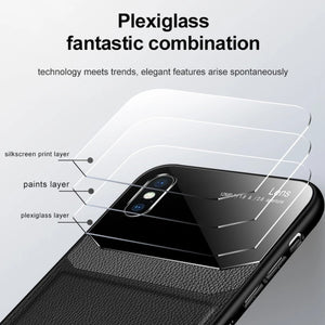 Load image into Gallery viewer, iPhone XR Sleek Slim Leather Glass Case