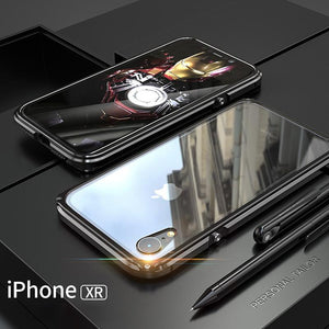 iPhone XR Electronic Auto-Fit Magnetic Transparent Glass Case