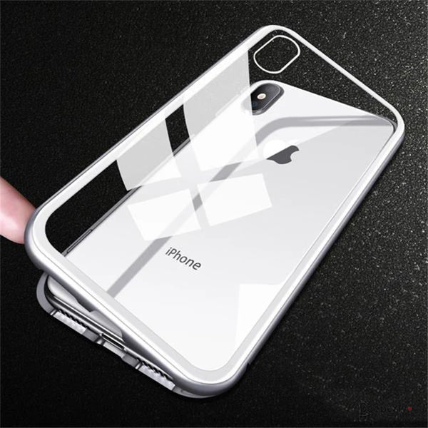 iPhone XS Electronic Auto-Fit Magnetic Transparent Glass Case