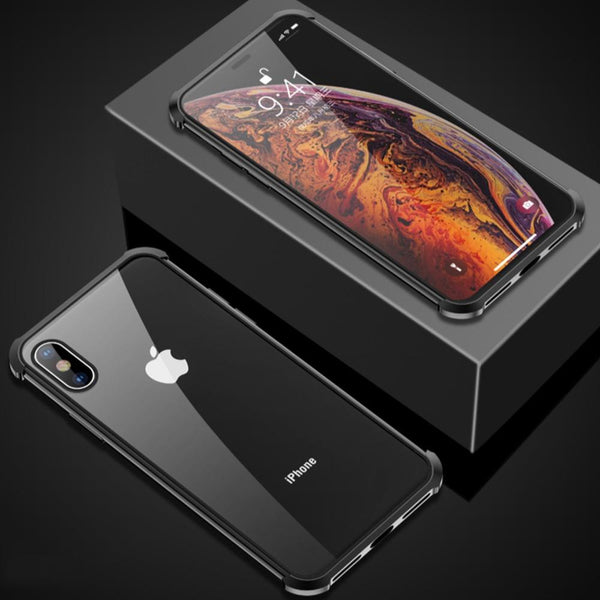 iPhone XS Frameless Auto-Fit (Front+ Back) Magnetic Glass Case