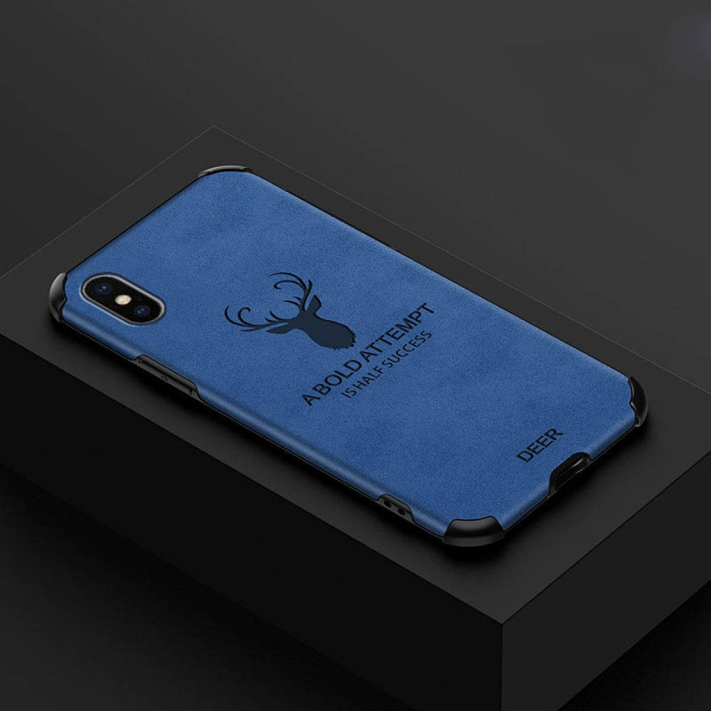 iPhone X Series Shockproof Deer Leather Texture Cover