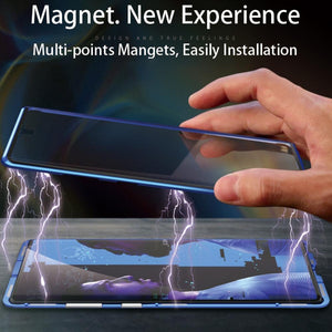 Galaxy Note 10 Series (Front+ Back) Glass Magnetic Case