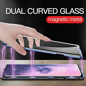 OnePlus 7 Electronic Auto-Fit (Front+ Back) Glass Magnetic Case
