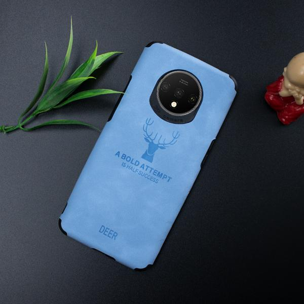 OnePlus 7T Shockproof Deer Leather Texture Case