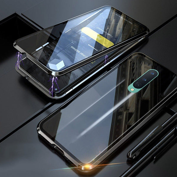 OnePlus 8 Electronic Auto-Fit (Front+ Back) Glass Magnetic Case