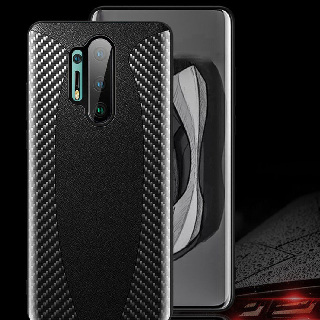 OnePlus 8 Pro Mclaren Style Carbon Leather Texture Case