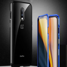 Load image into Gallery viewer, OnePlus 6T Electronic Auto-Fit (Front+ Back) Glass Magnetic Case