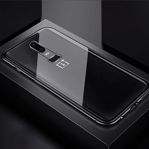 OnePlus 6 Electronic Auto-Fit Magnetic Transparent Glass Case