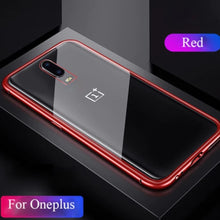 Load image into Gallery viewer, Oneplus 6T Electronic Auto-Fit Magnetic Transparent Glass Case