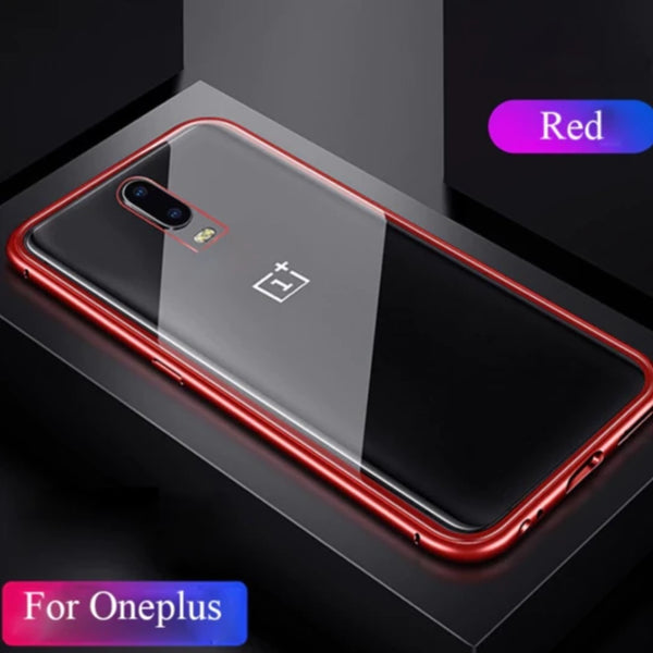 Oneplus 6T Electronic Auto-Fit Magnetic Transparent Glass Case