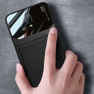 Load image into Gallery viewer, OnePlus 6T Sleek Slim Leather Glass Case