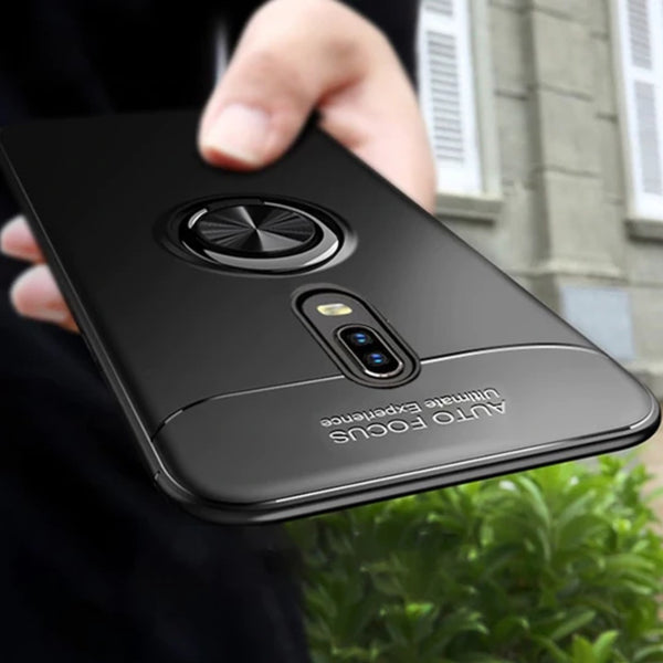 OnePlus 7 Metallic Finger Ring Holder Matte Case