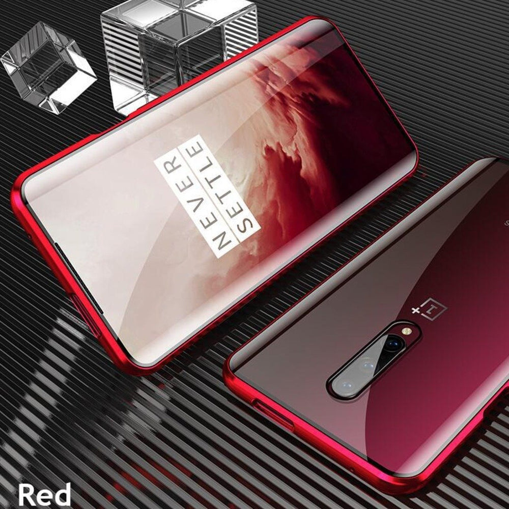 OnePlus 7T Pro Electronic Auto-Fit (Front+ Back) Glass Magnetic Case