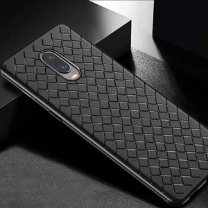 OnePlus 7 Ultra-thin Grid Weaving Case