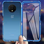 OnePlus 7T Electronic Auto-Fit (Front+ Back) Glass Magnetic Case