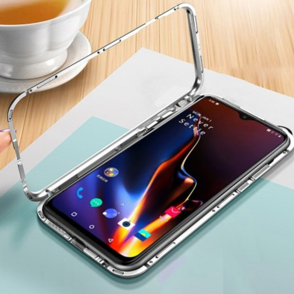 Oneplus 7T Electronic Auto-Fit Magnetic Transparent Glass Case