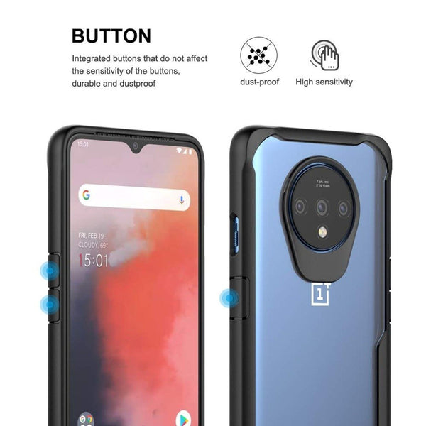 OnePlus 7T Shockproof Transparent Back Eagle Case