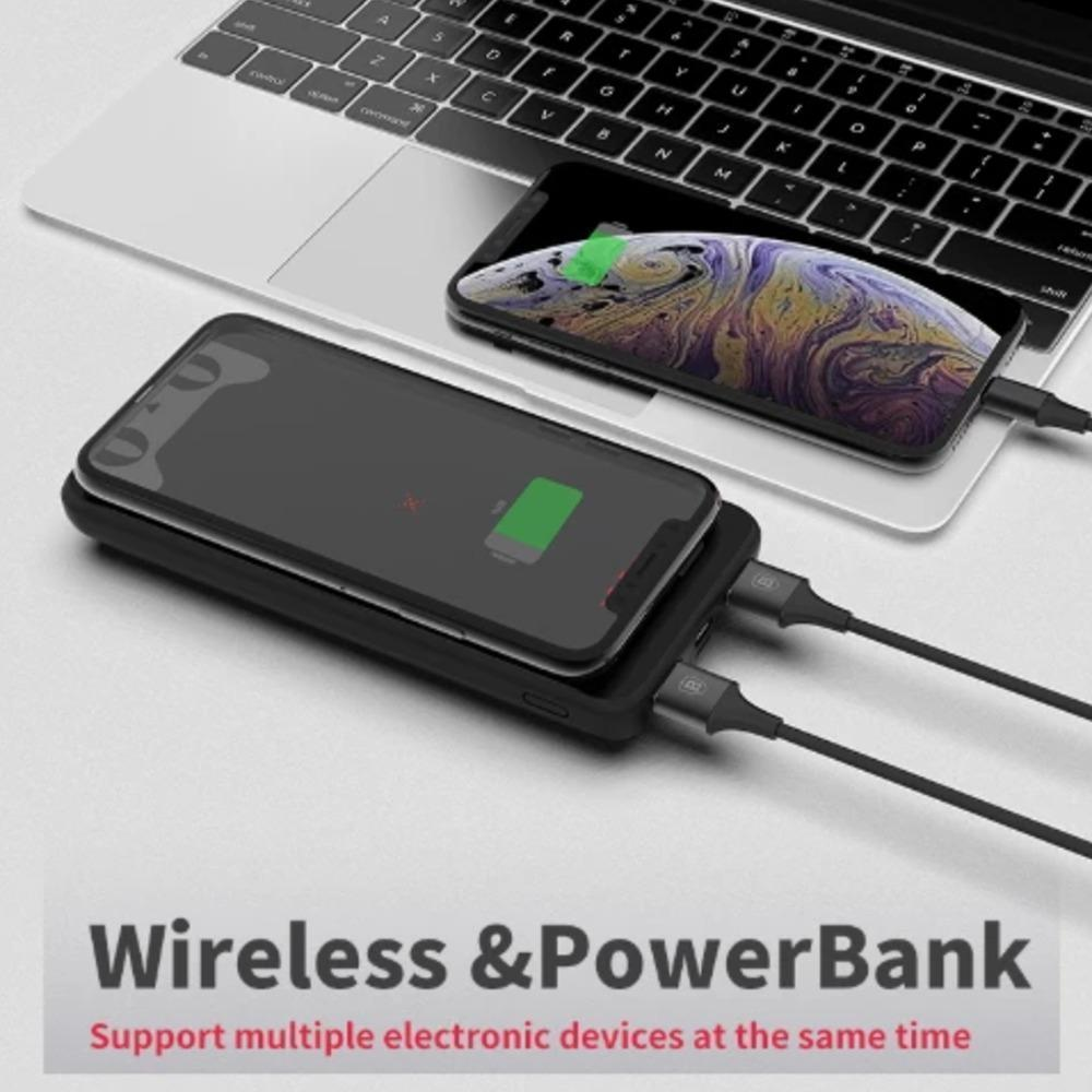 MK ®Baseus 10000 mAh Powerbank and Wireless Charger With Cat Print