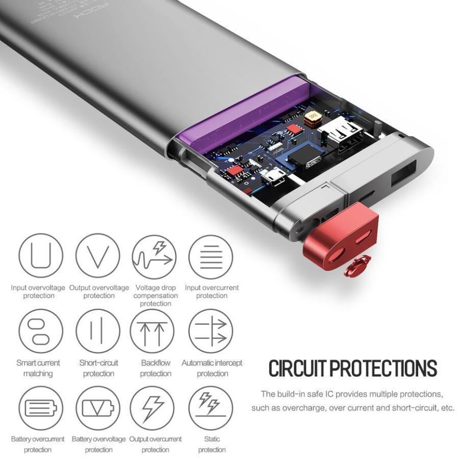 MK ® Rock 20000mAh Type-C & Micro Dual Input Portable Power Bank