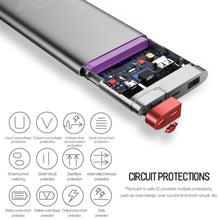 Load image into Gallery viewer, MK ® Rock 20000mAh Type-C & Micro Dual Input Portable Power Bank