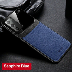 Galaxy Note 20 Sleek Slim Leather Glass Case
