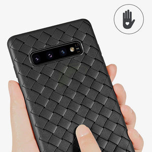 Henks ® Galaxy S10 Plus Ultra-thin Grid Weaving Case