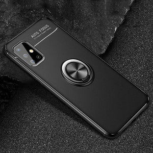 Load image into Gallery viewer, Galaxy M51 Metallic Finger Ring Holder Matte Case